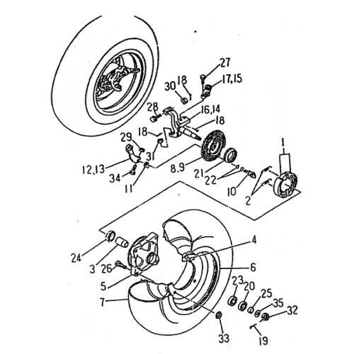 Front Wheel (LRX/SMC Blast ATV 150)