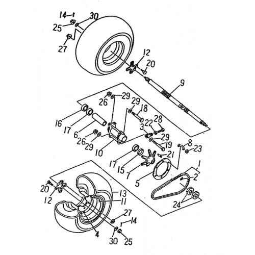 Rear Wheel (LRX/SMC Blast ATV 170)