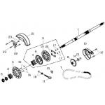 Rear Wheel Axle, Chain
