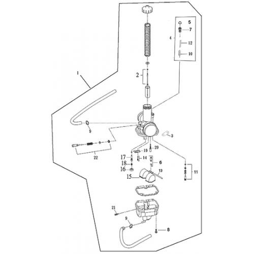 Carburetor (Adly ATV 200S)