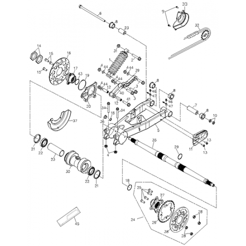 Swing Arm Sub-assembly (Adly ATV 200S)