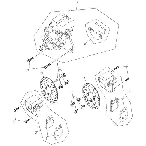 Brake Caliper (Adly ATV 200S)