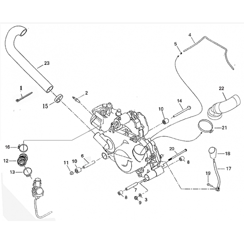 Engine and Engine Support (Adly ATV 220S)