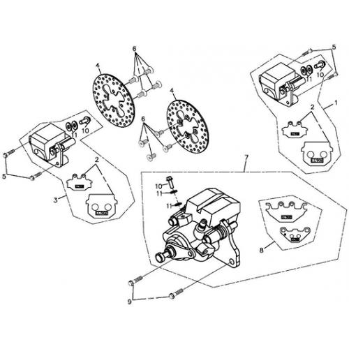 Brake Caliper (Adly ATV 220S)