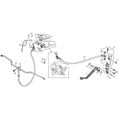 Brake System (Adly ATV 220S)