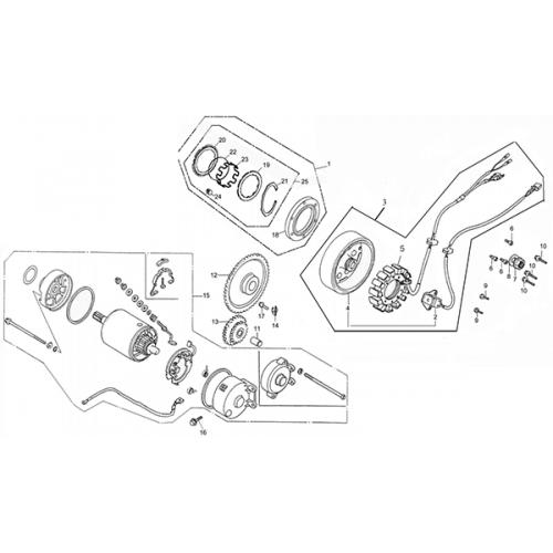 generator    starting motor  adly atv q280