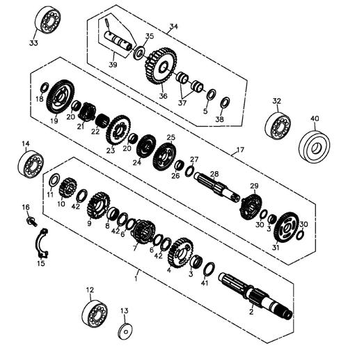 transmission  adly atv 300s interceptor