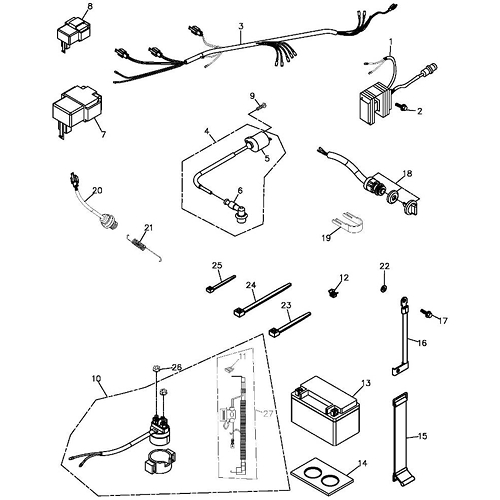 Adly Scooter Diagram