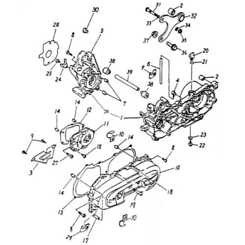 Crankcase Adly Atv 90cc 2t