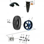Rear Wheel – Aluminum Rim