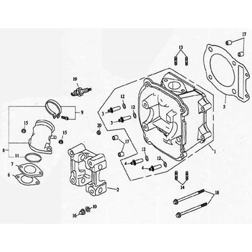 Cylinder Head (Lambretta UNO150)