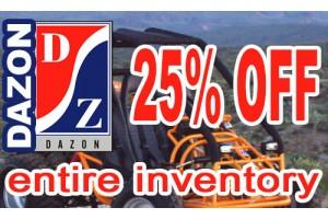 25% OFF Entire Dazon Inventory