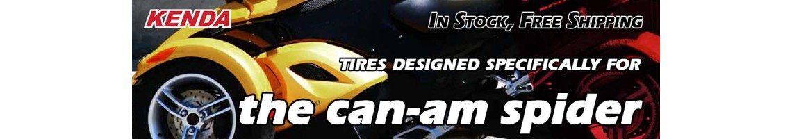 Kenda Kanine KR20 tires for the Can-Am Spyder