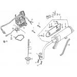 Exhaust Muffler, Carburetor