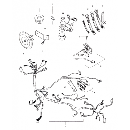 Wiring Harness (Hyosung Sense SD-50 Scooter) | Hyosung Scooter Wiring Diagram |  | ADLY Parts Store