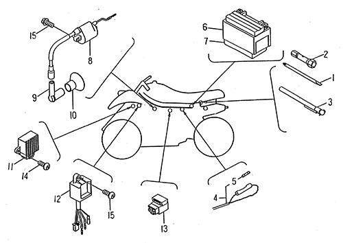 wire harness  lrx  smc atv 50 mini