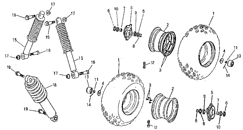 diagram, kasea front wheel, suspension (adly atv 90z2 4t (gear drive))  on chinese