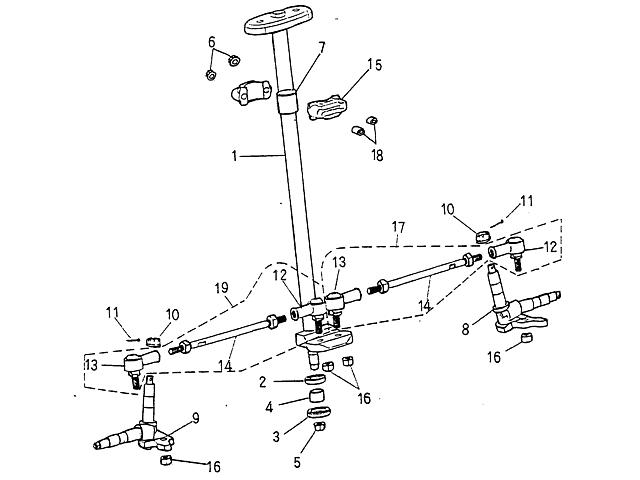Steering Blazer 90cc Atv
